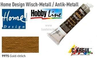bastelecke vienna hobby line antik metall wischmetall 20ml gold r tlich. Black Bedroom Furniture Sets. Home Design Ideas