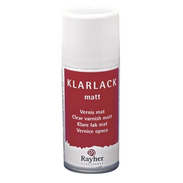 bastelecke vienna rayher lackspray matt 150ml klarlack. Black Bedroom Furniture Sets. Home Design Ideas